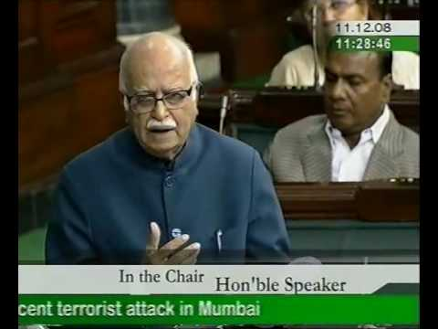 LK Advani's speech in Lok Sabha on Terrorism - Part: 1