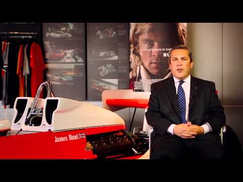 RUSH Movie Trailer and James Hunt F1 Car at McLaren Philadelphia