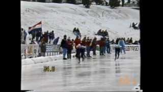 European Championships Allround Trondheim 1987 - 5 km Visser - Vergeer