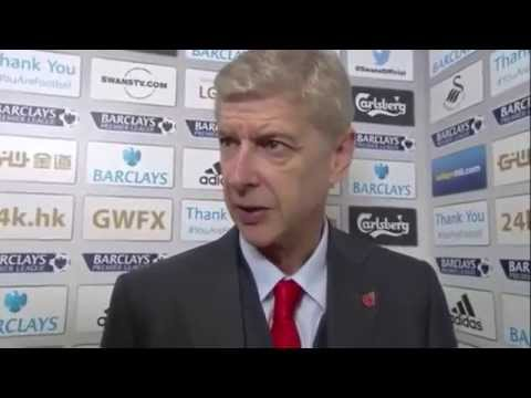 Swansea vs Arsenal 1-2 • Arsene Wenger Interview (09.11.2014)