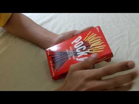 Chocolate Pocky Unwrapping And Taste Test Review