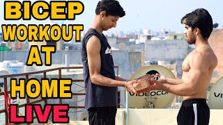 BICEP WORKOUT AT HOME  BADRI FITNESS LIVE STREAM