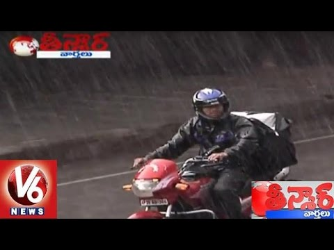 Heavy Rains Lashes Telangana   Thundershowers To Continue In All Districts   Teenmaar News   V6 News
