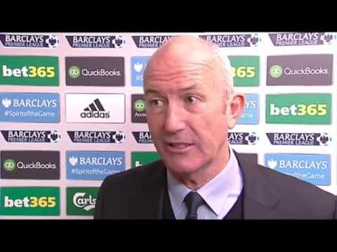 Tony Pulis is interviewed after West Bromwich Albion's 4-1 defeat by QPR
