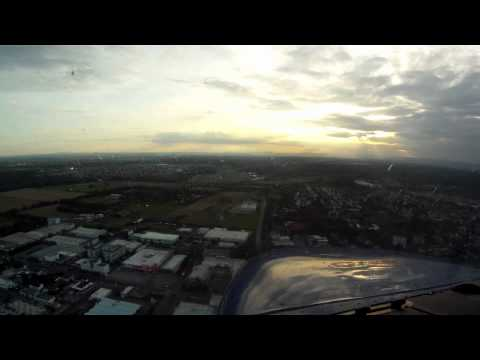 Sunset Landing Runway 27 Egelsbach (EDFE) HD Video