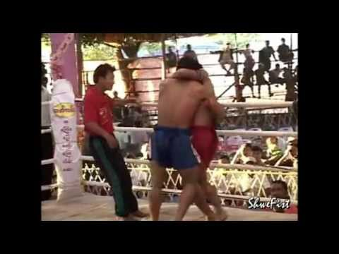 Myanmar Lethwei(Brave Aung) vs. Muay Thai, friendship fight