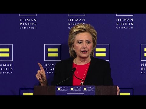Hillary Clinton slams 2016 GOP field over same-sex marriage rights