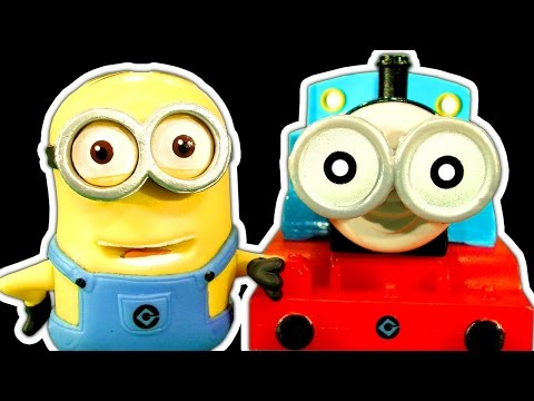 Thomas The Tank Vs Minions Toy Crusher Destruction Despicable Me :) video