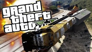 GTA 5 PC Mods - Train Simulator 2016! (Railroad Engineer Mod) - GTA 5 Funny Moments