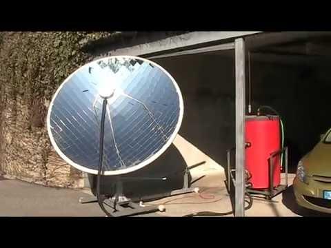 concentratore solare acqua