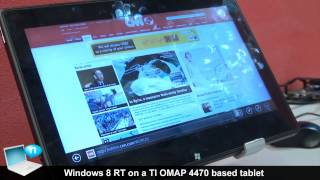 Windows 8 RT on tablet TI OMAP 4470
