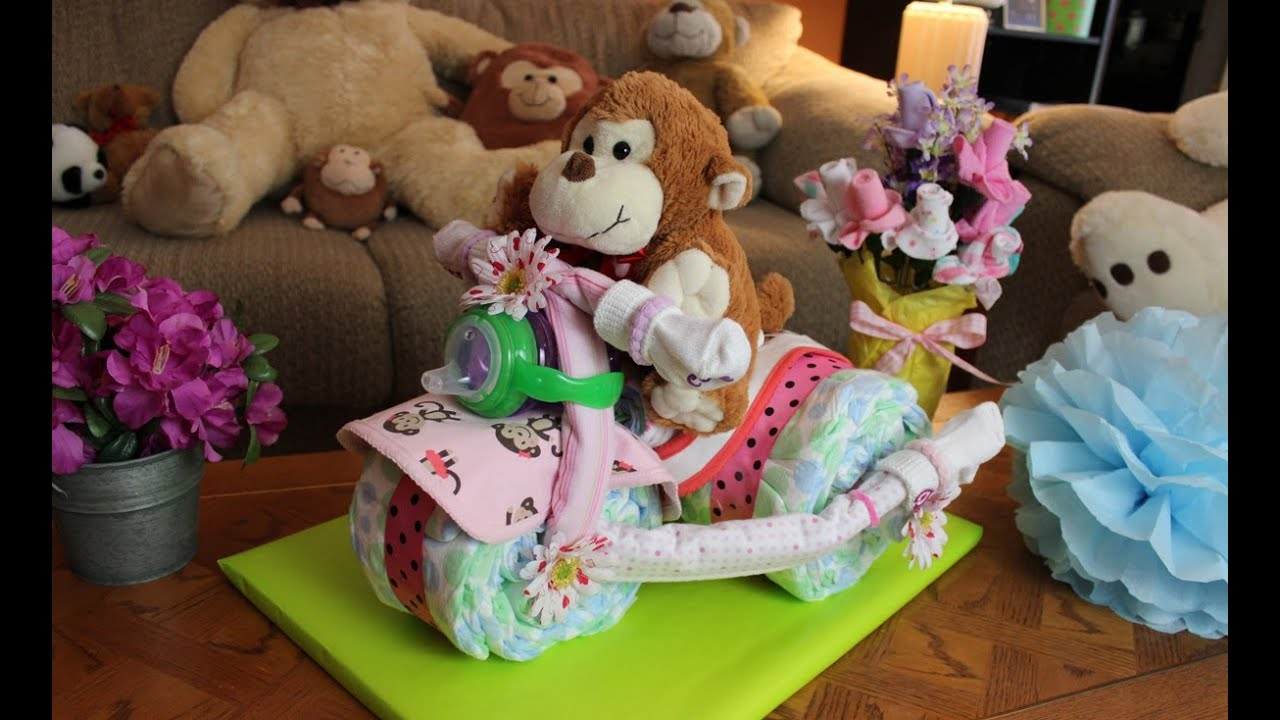How To Make Tricycle Diaper Cake For Baby Boy