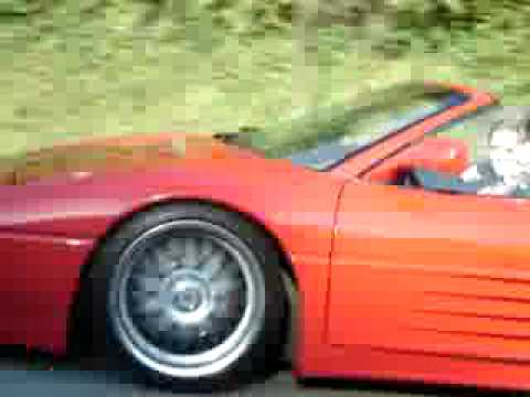 Mein Ferrari 348 TS auf Autobahn (My Ferrari 348 TS on highway)