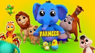 animals sounds song for kids | nursery rhymes for children | kids songs by farmees