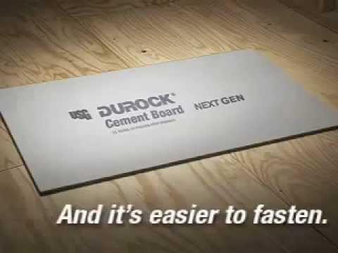 Durock Cement Board Next Gen Youtube