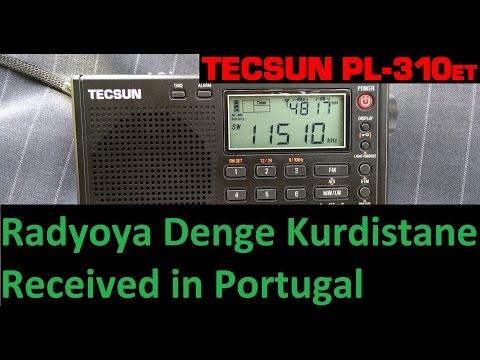 Radyoya Denge Kurdistane received in Portugal - Tecsun PL-310ET