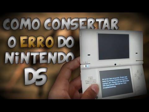 Como consertar o erro inicialização do Nintendo DS