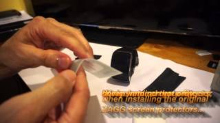 Samsung Gear S: ZAGG Screen protector installation and review