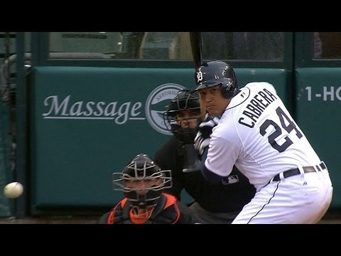 BAL@DET: Cabrera's big day at the plate vs. Orioles