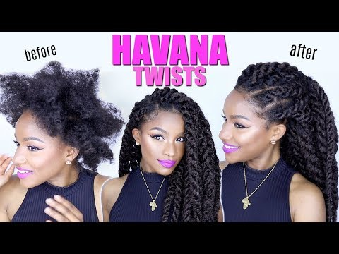 How-to: Havana Twists on Natural Hair   Jumbo Marley Twists