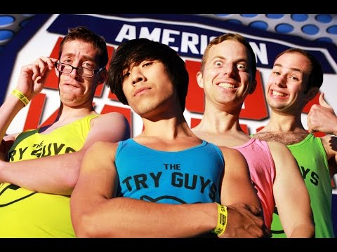 The Try Guys face the #AmericanNinjaWarrior course and get wet. American Ninja Warrior premieres May 25 and airs Mondays at 8/7c on NBC! https://www.nbc.com/american-ninja-warrior Episodes...
