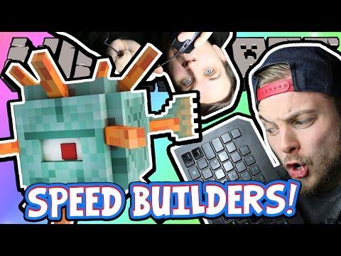 MINECRAFT HALF & HALF CHALLENGE! - Speed Builders W/AshDubh