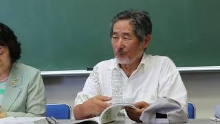 八重山を学ぶ発刊記念会見で三木健さんが歴史についてふれる