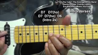How To Play CUT THE CAKE Average White Band On Guitar - EricBlackmonGuitar
