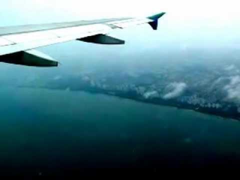 Difficult Plane Take Off: Rainy Slippery Runaway