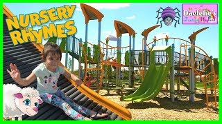 Child's Outdoor Playground! Mary Had A Little Lamb Nursery Rhymes Child's Play Area For Kids