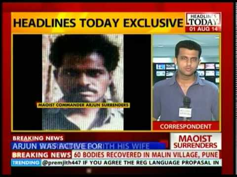 Maoist commander Arjun surrenders to Andhra police