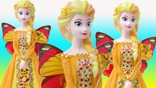 FROZEN ELSA SUNSHINE HEARTS Butterfly Fairy Doll Learn to Paint Your Own Money Bank