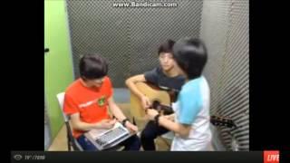 [130417]Hong Jisoo and Choi Hansol singing/rapping Officially Missing You + NOBODY