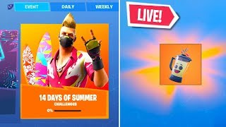 *NEW* FREE 14 DAYS Of SUMMER EVENT REWARDS SKIN CHALLENGES (FORTNITE 14 DAYS OF SUMMER)