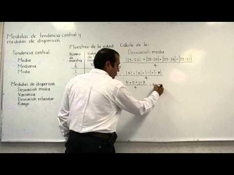 Medidas de tendencia central: media, mediana, moda; explicación teórica y aplicación
