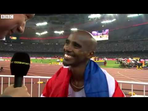 Mo Farah Somali Hero wins 5,000m And 10000m  at Beijing