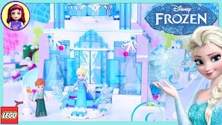 LEGO Elsa's Magical Ice Palace Disney Princess Speed Build Silly Play Review - Kids Toys