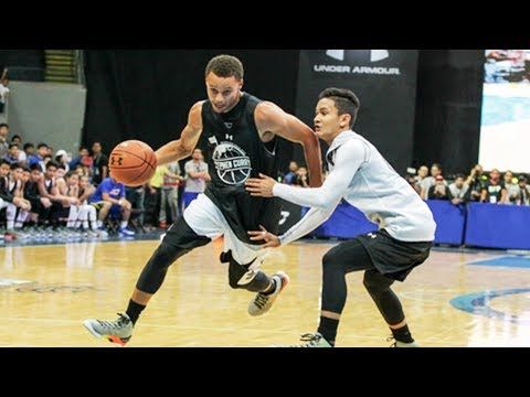 Stephen curry breaks ankles in philippines during 2015 under armour