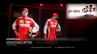 F1 2015 Menu Team and Drivers 2015 - Codemasters