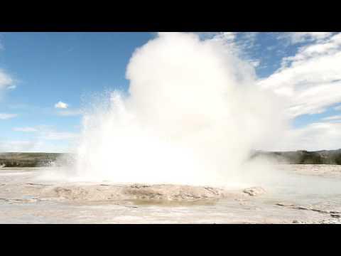 Yellowstone Fountain Geyser Continously Spouting