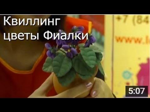 Фиалки - Мастер Класс Квиллинг / ПОДЕЛКИ своими Руками