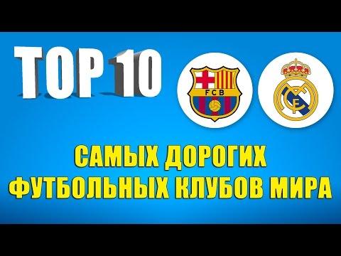 ТОП-10 cамых дорогих футбольных клубов мира