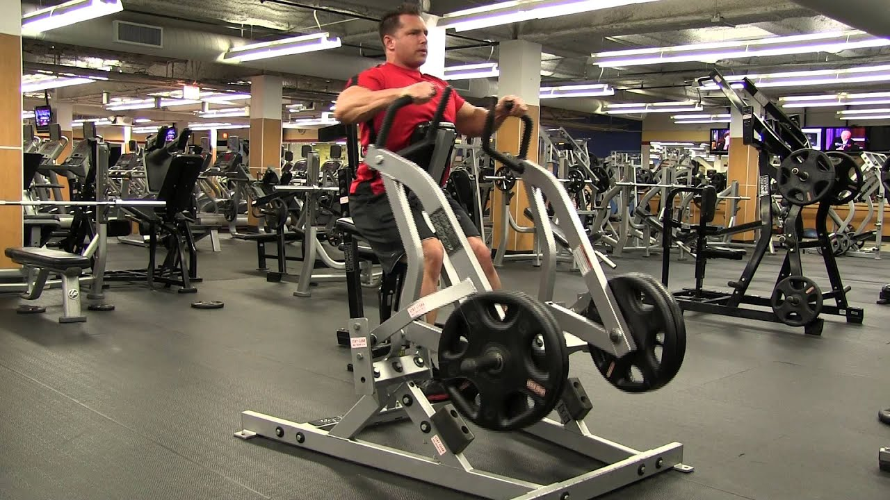 Horizontal Grip Hammer Strength Iso Lateral Row Youtube