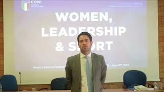 "Michele Sciscioli al Seminario ""Women, Leadership & Sport"" 2"
