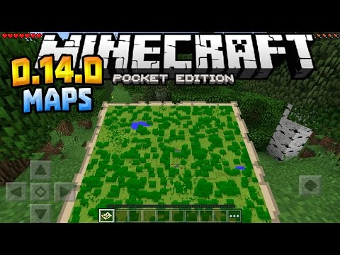 MAPS in MCPE!!! - 0.14.0 Beta Build Gameplay - Minecraft PE (Pocket Edition)