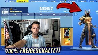 SEASON 7 - LEVEL 100 FREIGESCHALTET 🔥😱 Fortnite Battle Pass