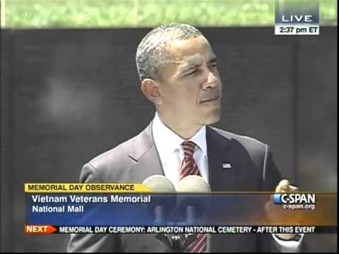 President Obama At The Vietnam Memorial, On Memorial Day 2012