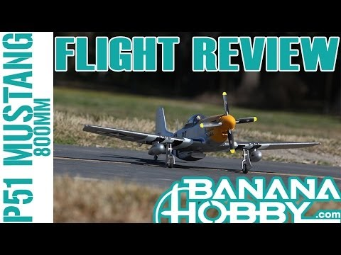 P-51 Mustang 800MM RC FMS Flight Review