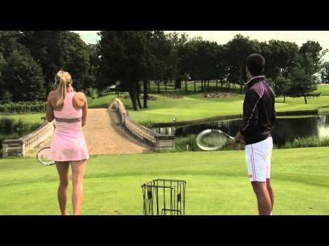 Djokovic vs. Sharapova: Power Golf thumbnail