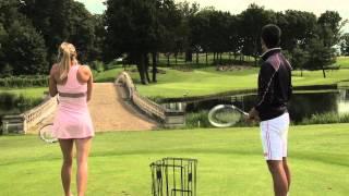 Djokovic vs. Sharapova: Power Golf